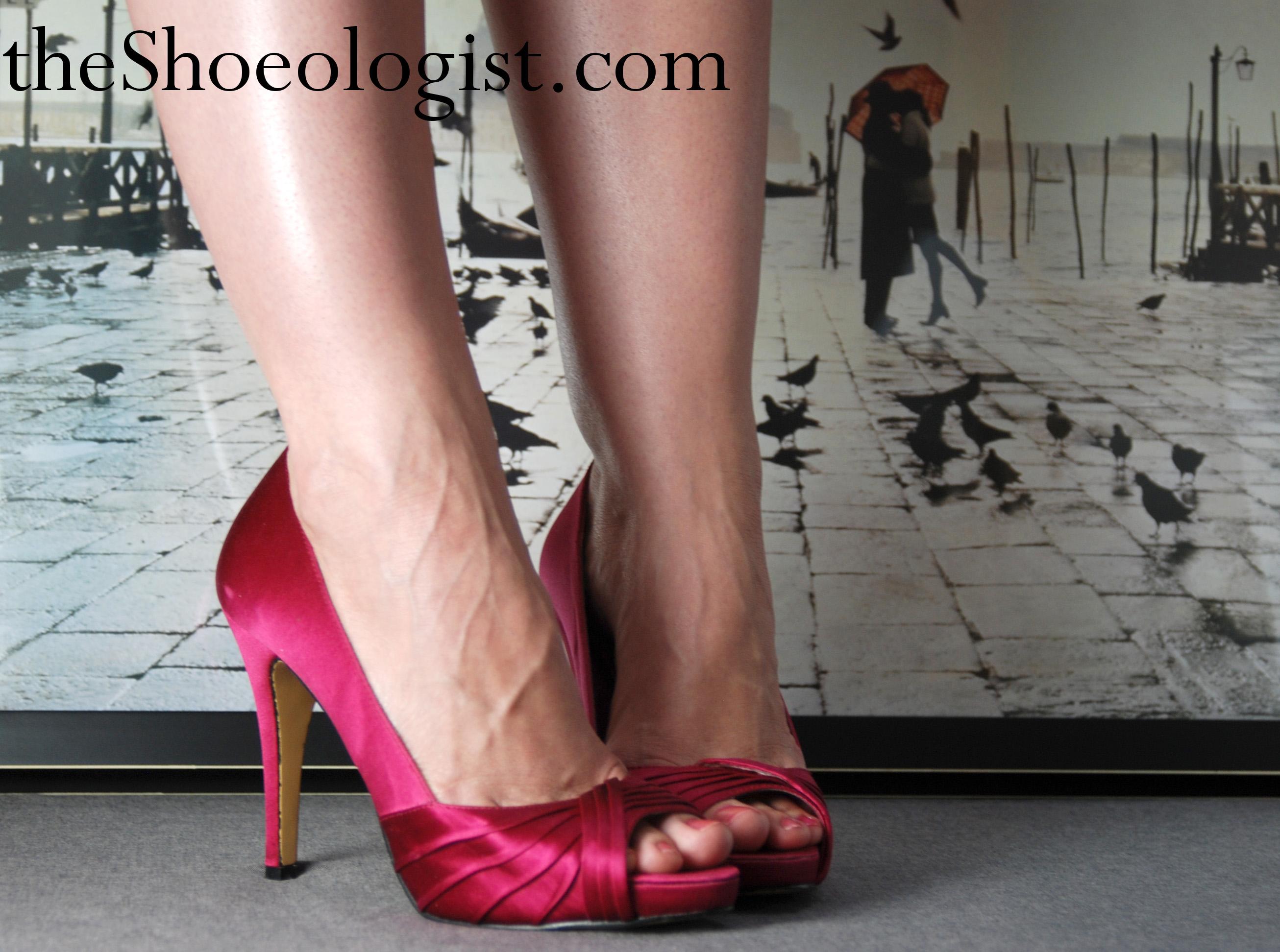 Satin Pink Heels