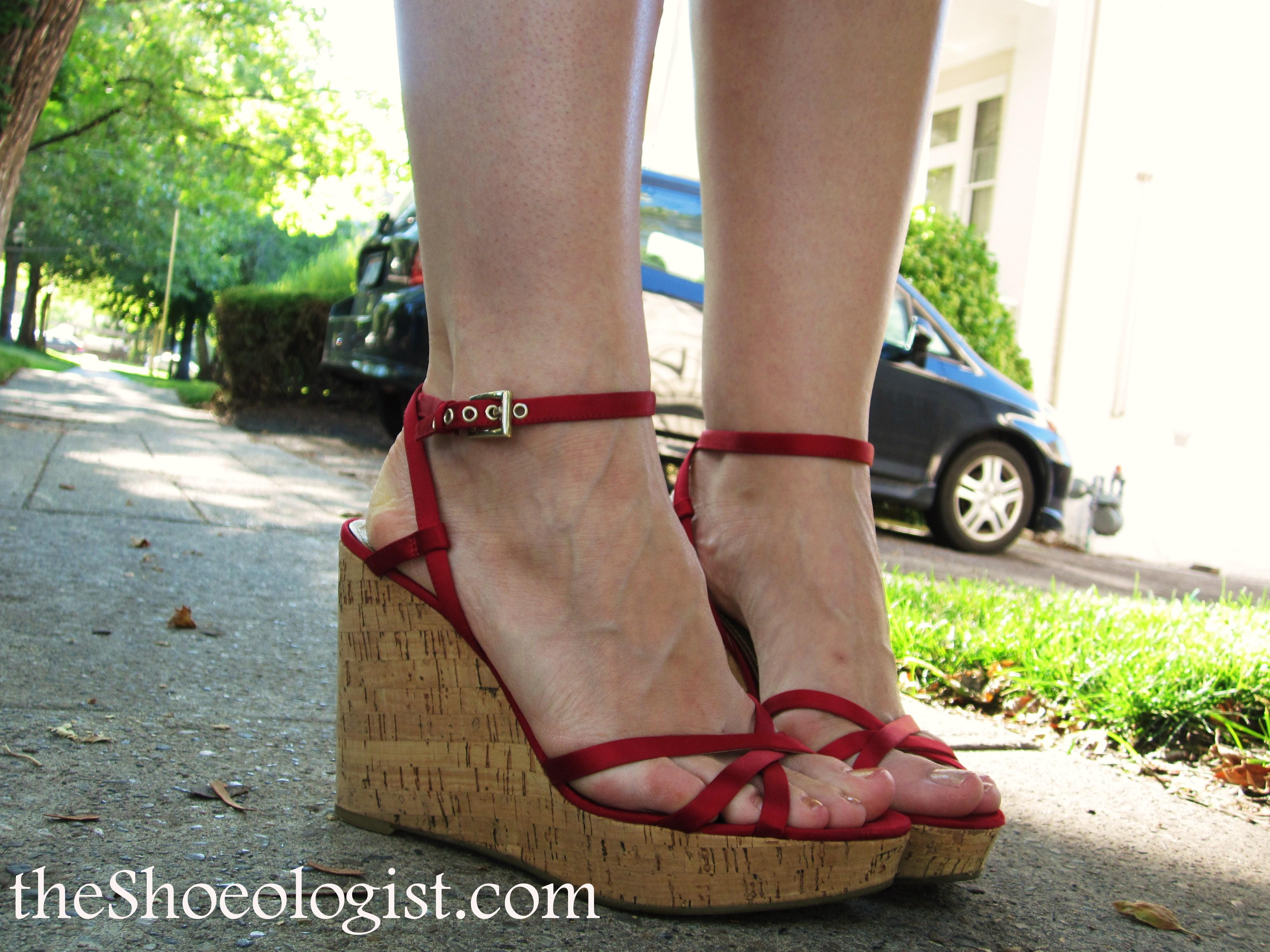 1c048f898f4e Red satin strappy sandals ...